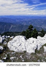 france provence the view from the top of mont ventoux