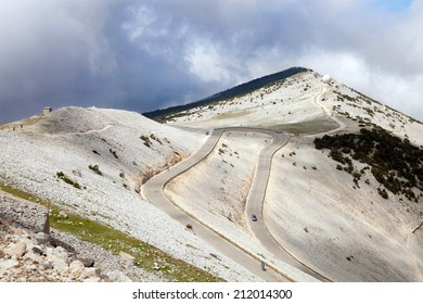 France, Provence, the view from the top of mont ventoux