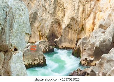 France, river, rock