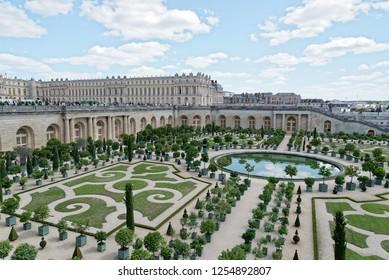 France. Versailles. 6 august 2017 garden of l'orangerie.