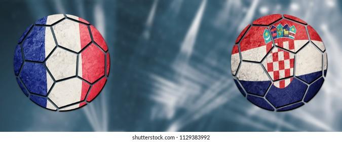 France vs. Croatia Football match
