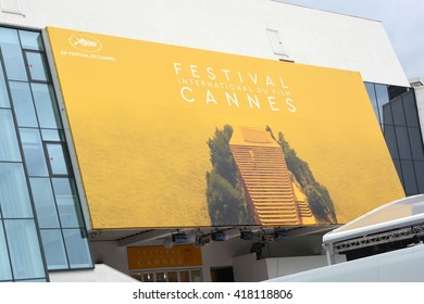 FRANCE,CANNES-MAY 10: The poster for the 69th International Film Festival shown on may 10, 2016 in Cannes,France.This year it is not an artist but a film frame which was chosen to illustrate the event
