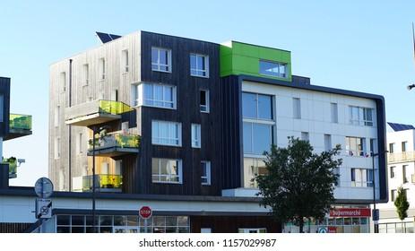 France,Grande Synthe, 8 July 2018, GRANDE-SYNTHE SOCIAL HOUSING