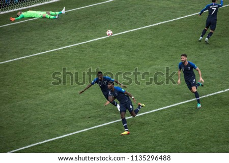 bc994070d France s Paul Pogba celebrates his goal with teammates at World Cup 2018  final match France vs