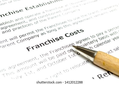 Franchise cost with wooden pen