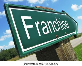 Franchise road sign