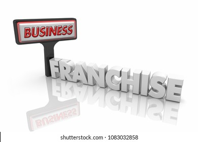 Franchise Store New Business Sign Word 3d Illustration
