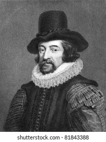 Francis Bacon (1561-1626). Engraved by J.Pofselwhite  and published in Lodge's British Portraits encyclopedia, United Kingdom, 1823.