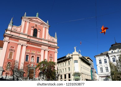 Franciscan Church of the Annunciation is  a landmark on Preseren square in central Ljubljana, Slovenia.