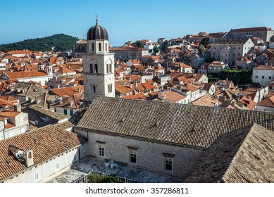 Franciscan Church and Monastery seen from Walls of Dubrovnik, Croatia