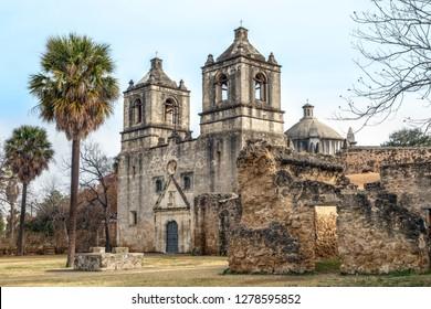 Franciscan friars established the Spanish Mission Concepcion near San Antonio, Texas in 1731.