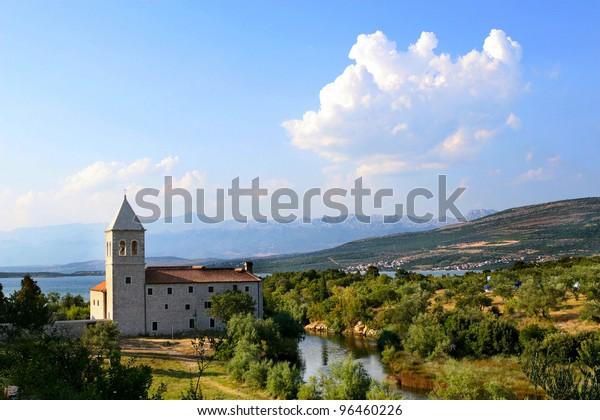 Franciscan Monastery of the Blessed Virgin Mary in Donji Karin, Croatia.