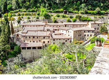 Franciscan monastery in Le Celle. Cortona. Italy