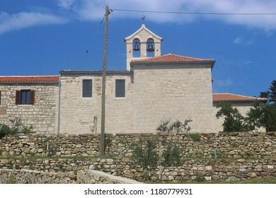 The Franciscan monastery of St. Anthony Abbot in the old town of Rab, island Rab, Croatia. Founded in the 11th century, still inhabited by nuns. South-east Europe.