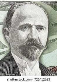 Francisco Ignacio Madero portrait from old Mexican money