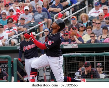 Francisco Lindor shortstop for the Cleveland Indians at New Year Park in New Year Arizona Arizona USA March 5,2017.