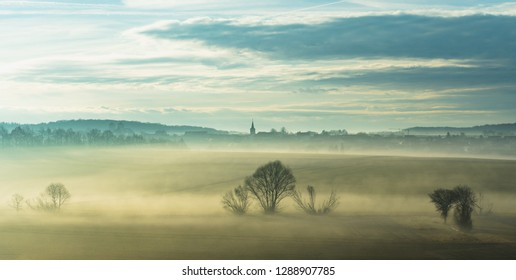 franconian Countryside with morning Fog