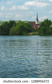 Franconian Landscape with River and Town