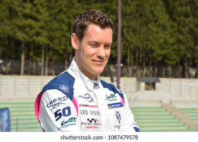 FRANCORCHAMPS / BELGIUM - MAY 2 2018: French racing driver Julien Canal (Larbre Competition Ligier JSP217 Gibson), FIA WEC 6 Hours of Spa-Francorchamps on May 2, 2018 in Spa-Francorchamps, Belgium.