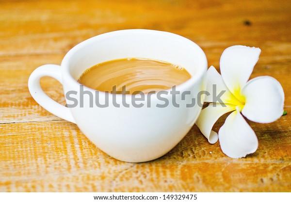 Frangipani  and coffee