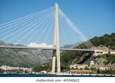 The Franjo Tudman cable-stayed bridge, Dubrovnik, Croatia.