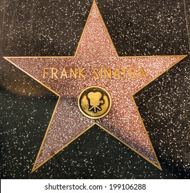 Frank Sinatra Hollywood Star in Los Angeles on street on AUGUST 23, 2013 in Los Angeles, USA.