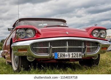 Franken, Germany, 23 June 2018: US vintage car, front view