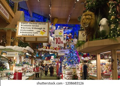 frankenmuth michigan usa october 9 2018 interior of bronners christmas wonderland - Worlds Largest Christmas Store