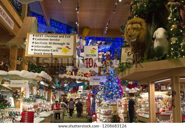 Bronners Christmas Ornaments.Frankenmuth Michigan Usa October 9 2018 Stock Photo Edit