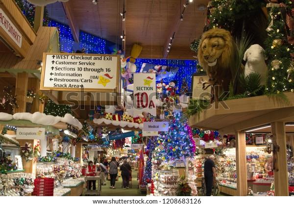 Bronners Christmas Wonderland.Frankenmuth Michigan Usa October 9 2018 Stock Photo Edit