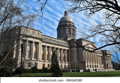 FRANKFORT, KY, U.S.A., FEBRUARY 10, 2017.  Frankfort, Kentucky, State Capitol on a winter afternoon on February 10, 2017. Editorial Use Only.