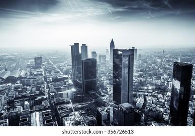 Frankfurt Black and White Landscape