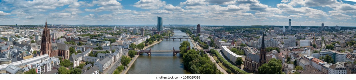 Frankfurt city panorama.