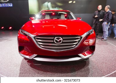 Frankfurt, Deutschland - September 15, 2015: 2015 Mazda Koeru Concept presented on the 66th International Motor Show in the Messe Frankfurt