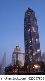 Frankfurt  Fair Tower, february 15. 2017, Senckenberganlage 27
