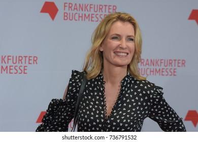 Frankfurt, Germany. 10th Oct, 2017. Maria Furtwängler (* 1966), german actress, arriving on the red carpet for the Frankfurt Bookfair / Buchmesse Frankfurt 2017 opening ceremony