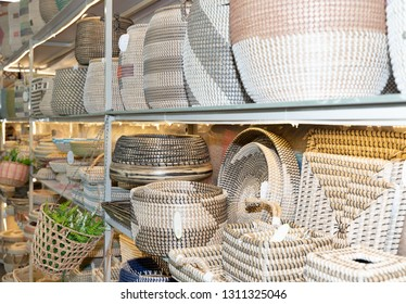 Frankfurt, Germany. 11th Feb 2019. Impressions from the Ambiente trade fair 2019: Baskets. Ambiente is a leading consumer goods trade fair with more than 4300 exhibitors and 130,000+ trade visitors.
