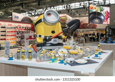 Frankfurt, Germany. 11th Feb 2019. Impressions from the Ambiente trade fair 2019: Minions products by WMF. Ambiente is a leading consumer goods trade fair