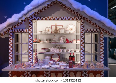 Frankfurt, Germany. 11th Feb 2019. Impressions from the Ambiente trade fair 2019: Christmas products by Villeroy & Boch. Ambiente is a leading consumer goods trade fair