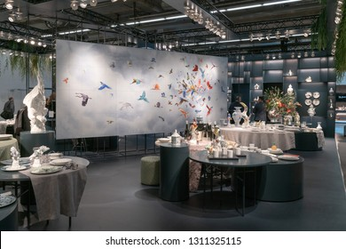 Frankfurt, Germany. 11th Feb 2019. Impressions from the Ambiente trade fair 2019: Meißen. Ambiente is a leading consumer goods trade fair