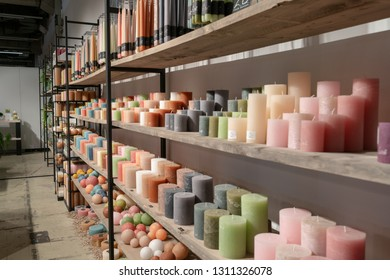 Frankfurt, Germany. 11th Feb 2019. Impressions from the Ambiente trade fair 2019: Display of candles by Rasteli. Ambiente is a leading consumer goods trade fair
