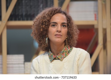Frankfurt, Germany. 11th Oct, 2017. Leila Slimani (* 1981), french-moroccan writer and journalist, at the INCIPIT! panel at Frankfurt Bookfair / Buchmesse Frankfurt 2017