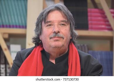 Frankfurt, Germany. 11th Oct, 2017 .Jean Portante (* 1950), writer born in Luxembourg, at the INCIPIT! panel at Frankfurt Bookfair / Buchmesse Frankfurt 2017