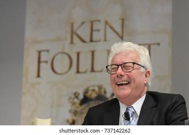 Frankfurt, Germany. 11th Oct, 2017.Ken Follett, british bestselling author, international press conference for A Column of Fire / Das Fundament der Ewigkeit at Frankfurt Bookfair / Buchmesse Frankfurt