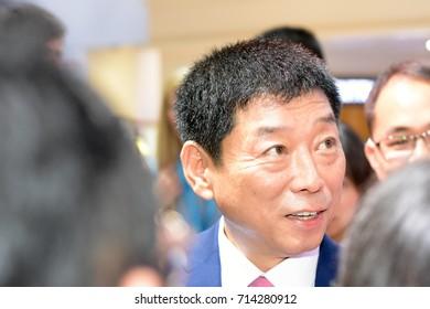 Frankfurt, Germany. 12th Sep, 2017. Wei Jianjun, chinese businesman,  chairman of Great Wall Motors, at WEY press conference  during the 65th IAA International Motor Show in Frankfurt/Main