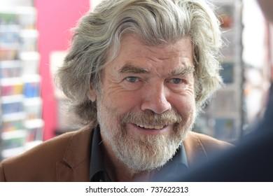 Frankfurt, Germany. 13th Oct, 2017. Reinhold Messner (* 1944), italian mountaineer, adventurer, explorer and author, at Frankfurt Bookfair / Buchmesse Frankfurt 2017