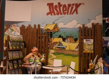 Frankfurt, Germany. 13th Oct, 2017. Impressions from the fair: Asterix Background, Frankfurt Bookfair / Buchmesse Frankfurt 2017