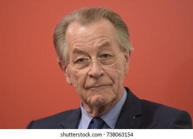 Frankfurt, Germany. 13th Oct, 2017. Franz Müntefering (* 1940), german politician SPD, Vice-Chancellor 2005-2007, Frankfurt Bookfair / Buchmesse Frankfurt 2017
