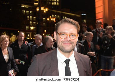 Frankfurt, Germany. 13th Oct, 2017. Max Giermann (* 1975), german actor and comedian, arriving on the red carpet for Hessischer Film- und Kinopreis 2017, Alte Oper Frankfurt/Main, Germany