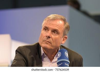 Frankfurt, Germany. 13th Oct, 2017.Axel Hacke (* 1956), german journalist and writer, Frankfurt Bookfair / Buchmesse Frankfurt 2017